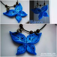 Polymeric. Blue butterfly by Rinrey