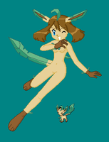 May Leafeon Anthro by Dinalfos5