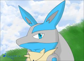 Smile portrait Lucario by Jonathanjo