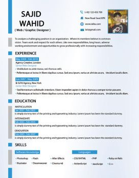 Clean Resume + Cover Letter by mehrodesigns