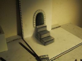 Stairs on paper by NAGAIHIDEYUKI
