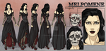 Melpomene - Character Reference Sheet by tbdoll