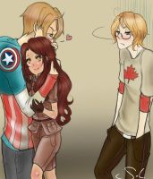 Request for HollowedAngel: AmericaxOC and Canada by IclaimThisname