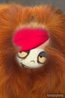 red ashley-faced monkey by Nightmaremoon108