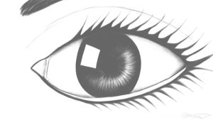 an eye by AmeenS