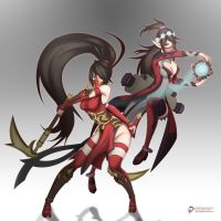 Scarlet Double (League of Legends X Paladins) by CLeRu087