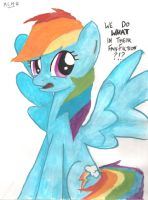Rainbow Dash is not impressed by NavigatorAlligator