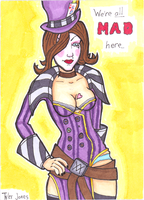 Mad Moxxi ACEO 01 final by JusticeDude