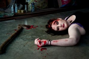 Gore makeup 02 by static-sidhe