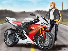 yamaha R1-Digital paint by fabius72