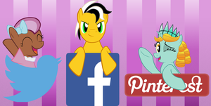 Ponycon Mascots Social Media Icons by Bitgamer