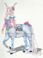 Water Lotus Centaur [SOLD] by Blue--Rosa
