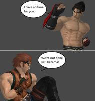 Injustice: Jin Kazama vs Hwoarang by xXTrettaXx