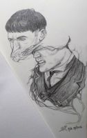 Fantastic Beasts: Credence WIP by NekoVOLTZIII