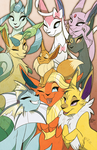 Eeveelutions by Famosity