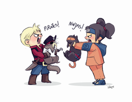 BA s5 - PIrates Vs Ninjas by shoze