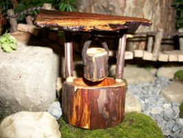 Miniature Wooden Wishing Well by PymatuningCrafts