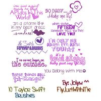 TSwift Brushes by FlyJuztWithMe