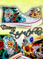 Sugar Skulls shoes by Raw-J