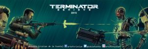Terminator Genisys Poster (Banner version) by cdelafuente