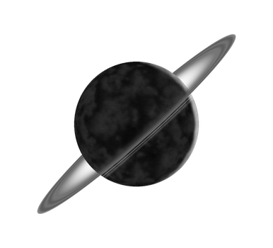 Obsidius, the Charred Ringed Planet by Cougarmint