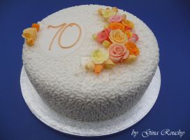 70th Cake by ginas-cakes