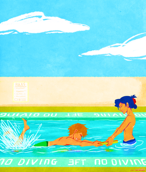 Swimming Lessons by Eek-the-Menace