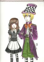 Alice and the Mad Hatter by roxas-hagaren