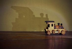 The Train and its Shadow by njoelgraph