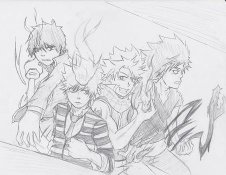 Shonen Flame Characters by D33PDIV32TH3W0RLD