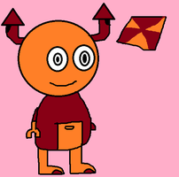 orange and red mixel OC by hershey990