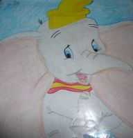 Dumbo Drawing by chloesmith8