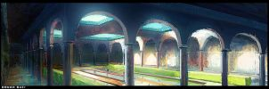 concept art   old  arabic  caslte  interior by cstlmode