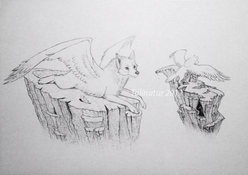 Flying wolves by Tulinatur