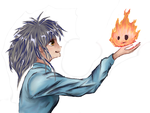 Howl's Moving Castle - Sophie and Calcifer by khrevolutions