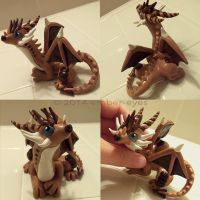S'mores Dragon Sculpt by Ember-Eyes