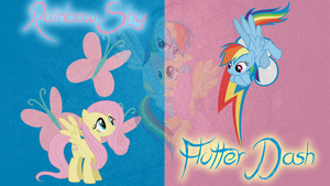 Flutterdash/RainbowShy Wallpaper by Coolez