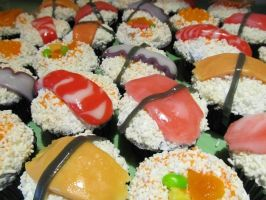 Sushi Cupcakes by WolvenBlue
