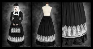 Gothic Windows Skirt long by Euflonica