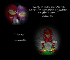 Knuckles and Julie-Su: Always In My Head by Lordius-Biscuit