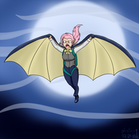 The Flutterbat Jumps in the Night by phallen1
