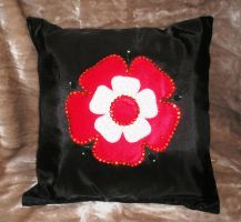 Anne Boleyn Tudor Rose Cushions by Walaby1969