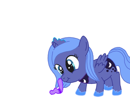Woona and the Caterpillar colored by dawnchan14