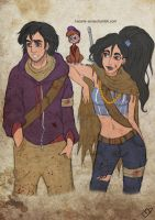 The Walking Disney : Aladin, Jasmine and Abu by Kasami-Sensei