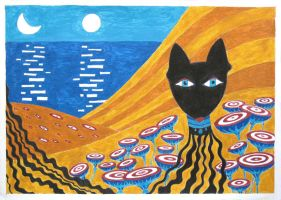 The cat by Cunami-in-october