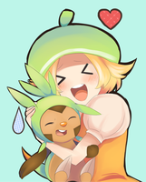 Bianca and her new best friend by Joltik92