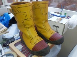 My Boots for Future Trunks Cosplay by dragonbarnesz