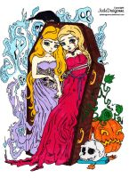 The Twins 2015 Halloween Colored by Maiko-Girl
