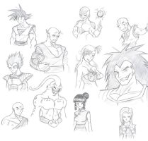 DBZ characters in my style by ChaosGhidorah