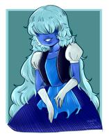 Sapphire - Collab With Trashie by HorrorFreakArt